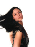 Woman with black hair Royalty Free Stock Photography