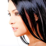 Woman with black hair Royalty Free Stock Image
