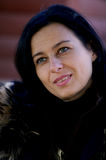 woman with a black hair Royalty Free Stock Photo