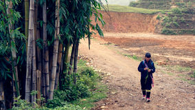 Black Hmong Tribe Woman Royalty Free Stock Images