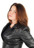 Woman in black jacket. Stock Photos