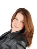 Woman in black jacket. Stock Photo