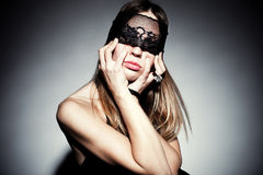 Woman with black lace Stock Photo