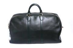 Woman black leather handbag Stock Images