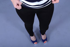 Woman with black leggings Royalty Free Stock Photo