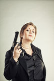 Woman in black Stock Images