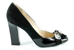 Woman black shoe Stock Image