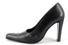 Woman black shoe Royalty Free Stock Photo