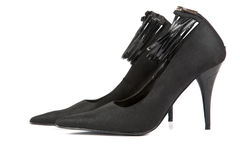 Woman black shoes Stock Photo