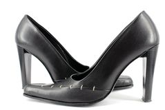 Woman black shoes Royalty Free Stock Photography