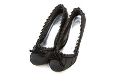 Woman black shoes Royalty Free Stock Photo