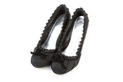Woman black shoes Royalty Free Stock Photo