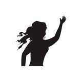 Woman black silhouette. Icon  illustration graphic design Stock Photography