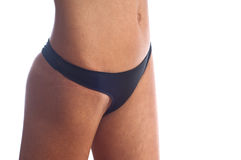 Woman in black thong Royalty Free Stock Image