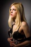 Woman in black underwear Royalty Free Stock Photo