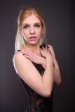 Woman in black underwear Royalty Free Stock Image