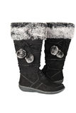 Woman black winter boots. Stock Photography