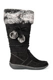 Woman black winter boots. Stock Photos