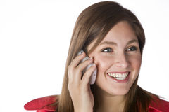 Woman with a Blackberry PDA Stock Photo
