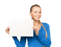 Woman with blank board Royalty Free Stock Photography