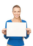 Woman with blank board Royalty Free Stock Photos