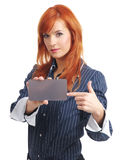 Woman with blank credit card Stock Photography
