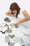 А woman with blank photos Royalty Free Stock Image