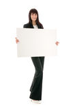 Woman and blank space Royalty Free Stock Photos