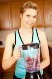 Woman blender Royalty Free Stock Images