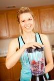 Woman blender Stock Image