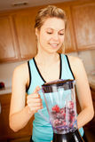Woman blender Royalty Free Stock Image
