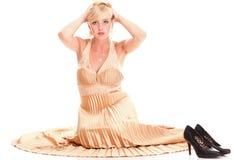 Woman blonde fashion model dress  Royalty Free Stock Photo