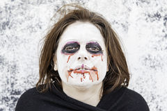 Woman blood on face Royalty Free Stock Images