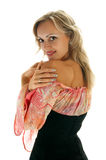 Woman in blouse Royalty Free Stock Images