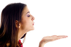 Woman Blowing stock images