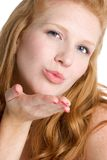 Woman Blowing Kiss Royalty Free Stock Photos