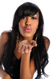 Woman Blowing Kisses Royalty Free Stock Image