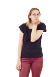 Woman blowing kisses to you Royalty Free Stock Photography