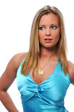 Woman in BLue Stock Images