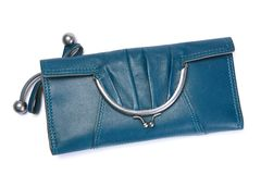 Woman blue bag Stock Photo