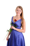 Woman in blue dress Royalty Free Stock Photography