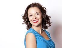 Woman in blue dress Stock Photo