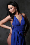 Woman in blue dress Royalty Free Stock Photos