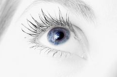 Woman blue eye. Photo of a woman blue eye Royalty Free Stock Photos