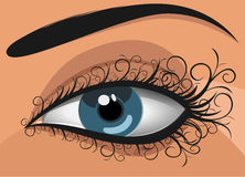 Woman blue eye. Abstract,  illustration Stock Image