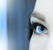 Woman blue eye Royalty Free Stock Image