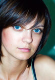 Woman with Blue Eyes Stock Photography
