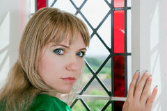 Woman with blue eyes Royalty Free Stock Images
