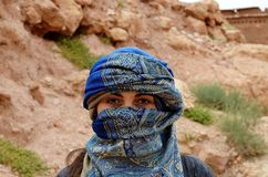 Woman in Blue Hijab Royalty Free Stock Photography
