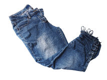 Woman blue jean Stock Photos